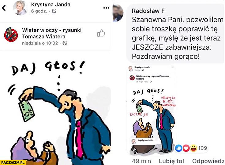 Krystyna Janda urząd miasta Warszawa dotacje przeróbka obrazka politycznego