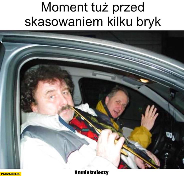 Krzysztof Krawczyk moment tuż przed skasowaniem kilku bryk