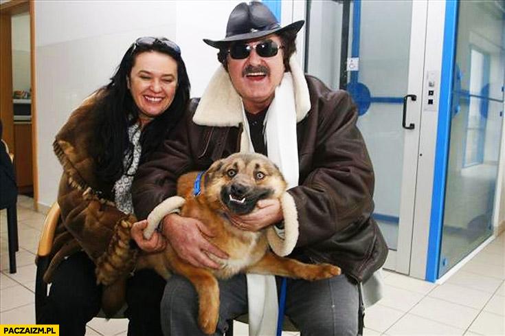 Krzysztof Krawczyk z psem