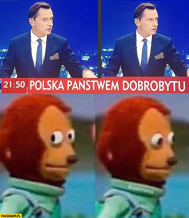 Krzysztof Ziemiec spogląda dziwna mina jak w memie