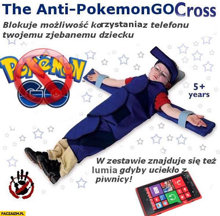 Krzyż anty-Pokemon GO. Blokuje możliwość korzystania z telefonu Twojemu dziecku