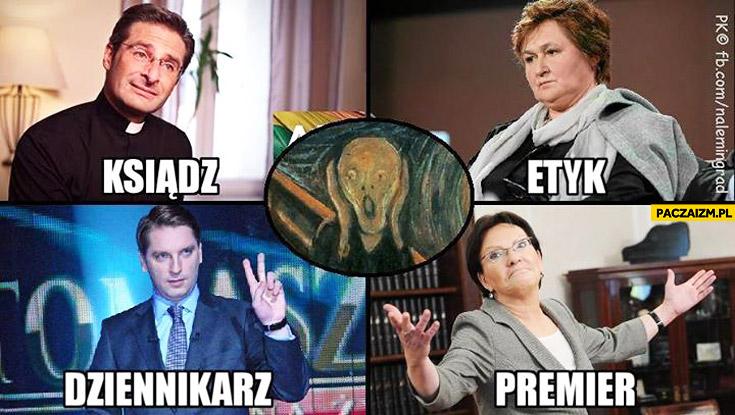 Ksiądz etyk dziennikarz premier w Polsce fail