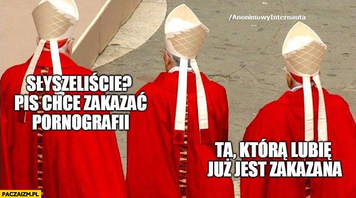 Ksiądz księża słyszeliście? PiS chce zakazać filmów dla dorosłych, te które lubię już są zakazane Anonimowy internauta