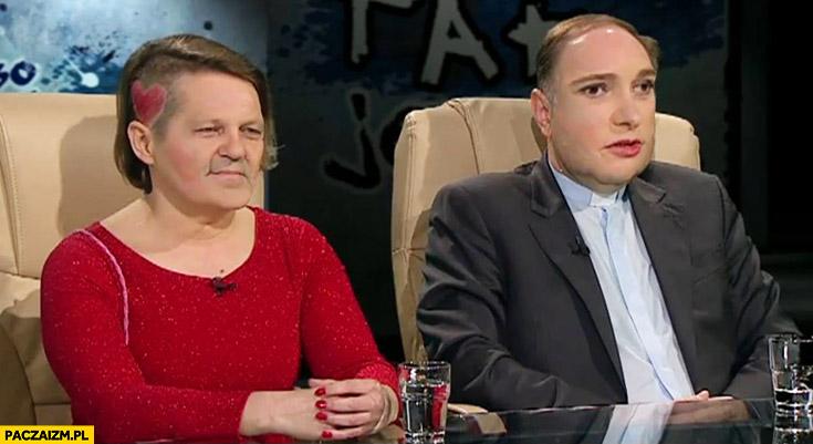 Ksiądz Sowa Anna Zawadzka TVN face swap zamiana twarzy