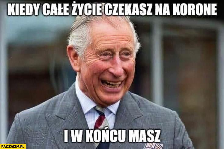 Książe Karol kiedy całe życie czekasz na koronę i w końcu masz koronawirus