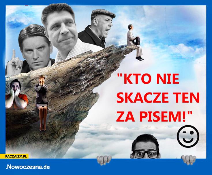 Kto nie skacze ten za PiSem reklama Nowoczesna