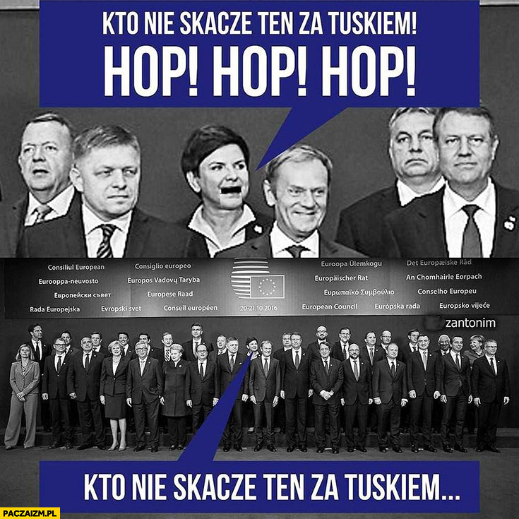 Kto nie skacze ten za Tuskiem hop hop hop Beata Szydło