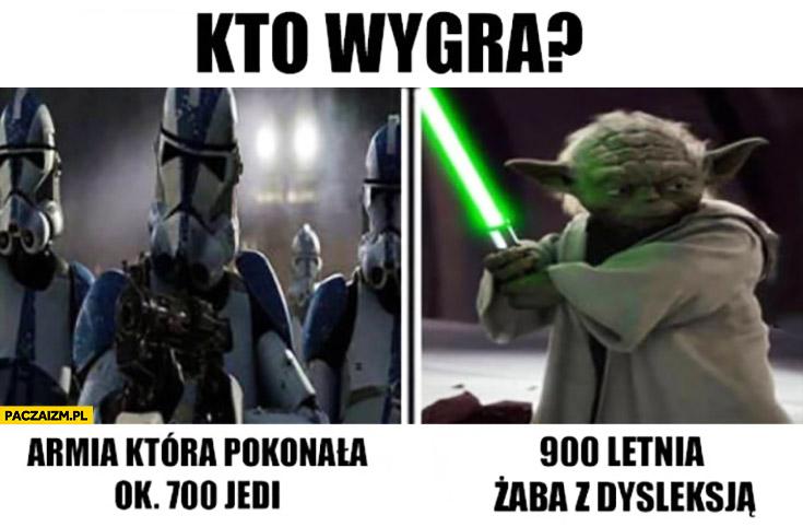Kto wygra: armia, która pokonała 700 jedi czy 900 letnia żaba z dysleksją Mistrz Yoda Star Wars Gwiezdne Wojny