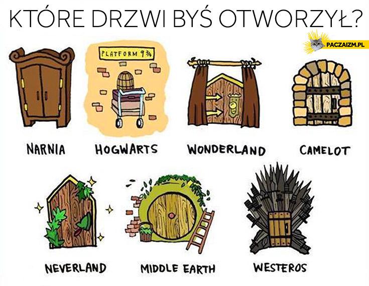 Które drzwi byś otworzył Narnia Hogwart Westeros