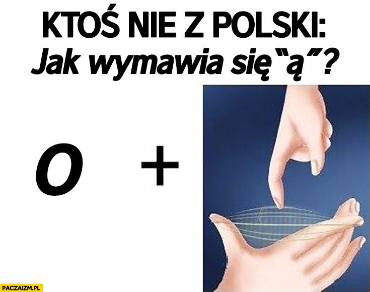 Ktoś nie z Polski: jak wymawia się ą? O plus dźwięk cięciwy