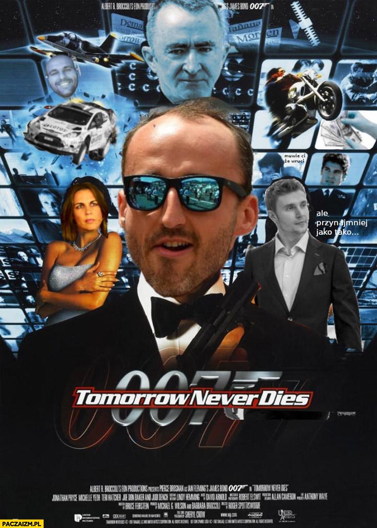 Kubica 007 tomorrow never dies przeróbka plakatu filmowego James Bond
