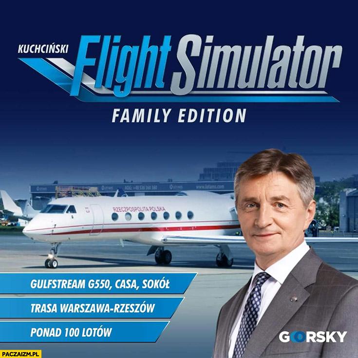 Kuchciński Flight Simulator family edition gra komputerowa goorsky