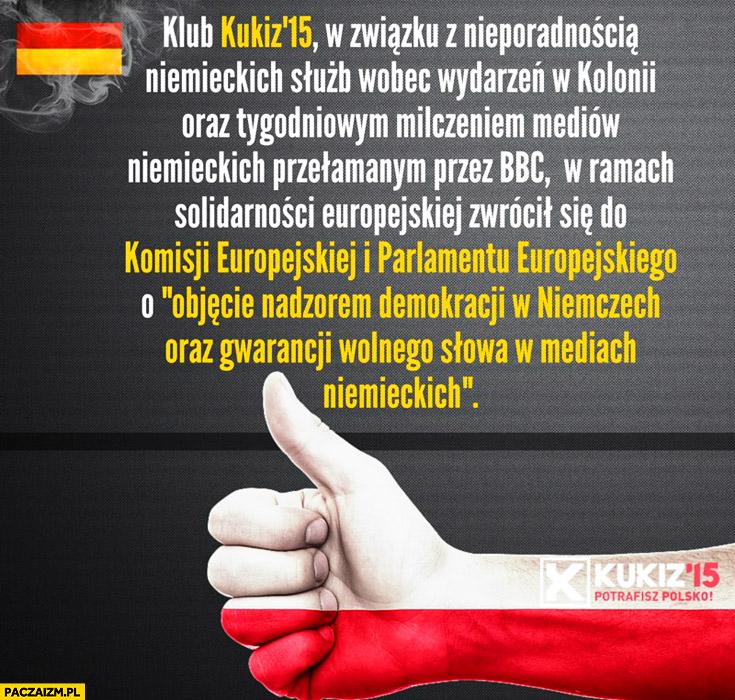 Kukiz '15 zwrócił się do Komisji Parlamentu Europejskiego o objęcie nadzorem demokracji w Niemczech