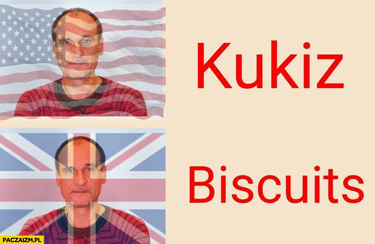 Kukiz biscuits ciasteczka amerykański brytyjski