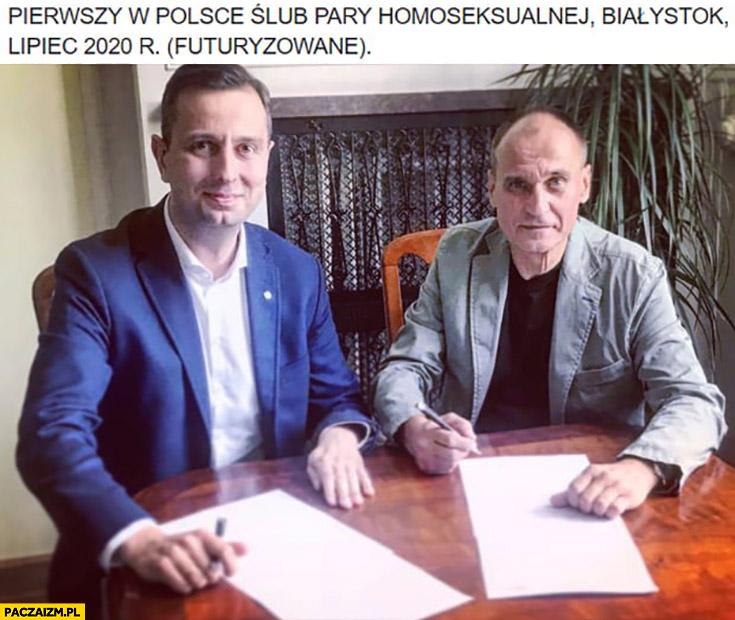 Kukiz Kośniak-Kamysz pierwszy w Polsce ślub pary homoseksualnej Białystok