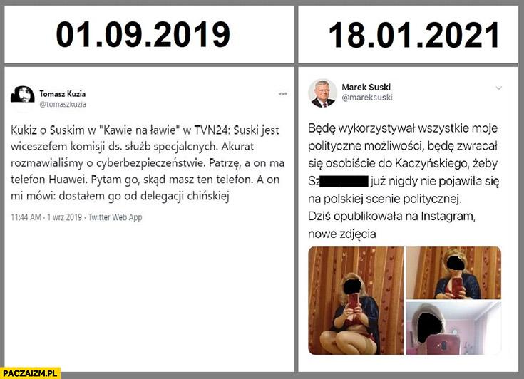 Kukiz o Suskim skąd masz ten telefon a on mówi dostałem go od delegacji Chińskiej włam na twittera