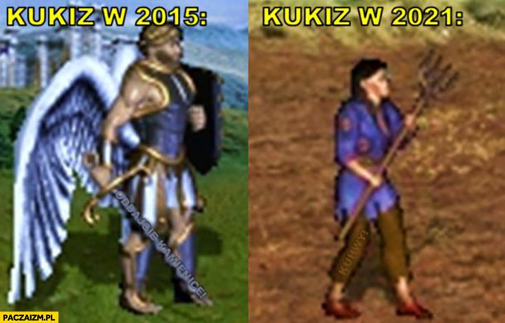 Kukiz w 2015 archanioł vs Kukiz 2021 chłop Heroes 3