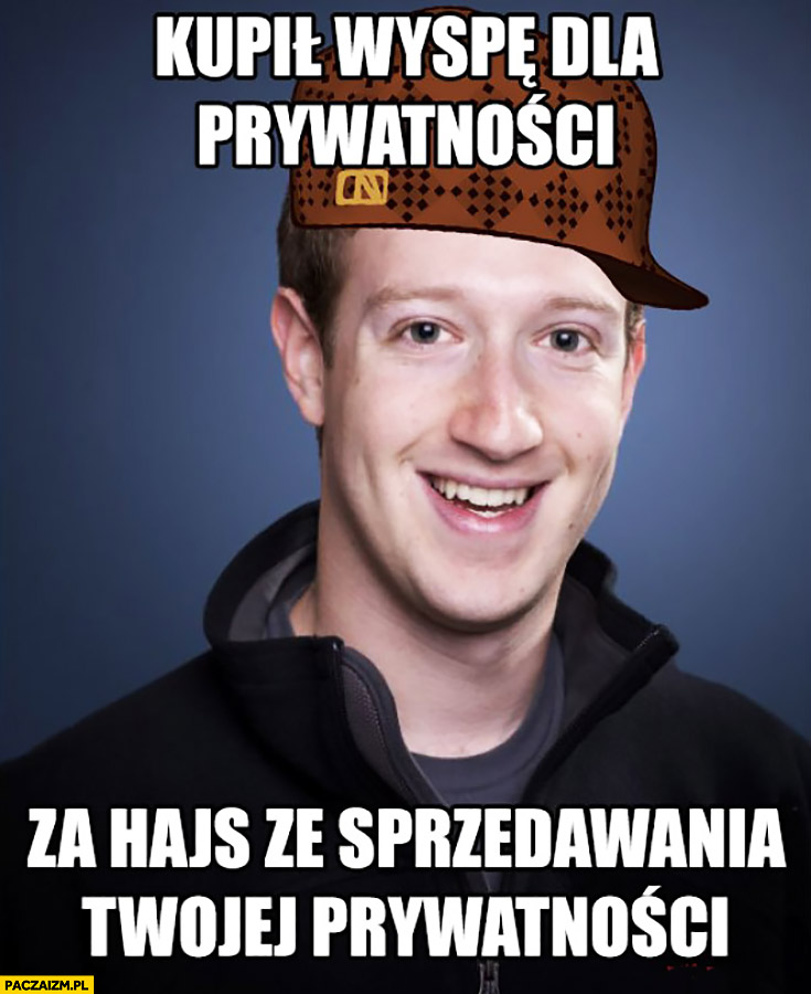 Kupił wyspę dla prywatności za hajs ze sprzedawania Twojej prywatności Mark Zuckerberg