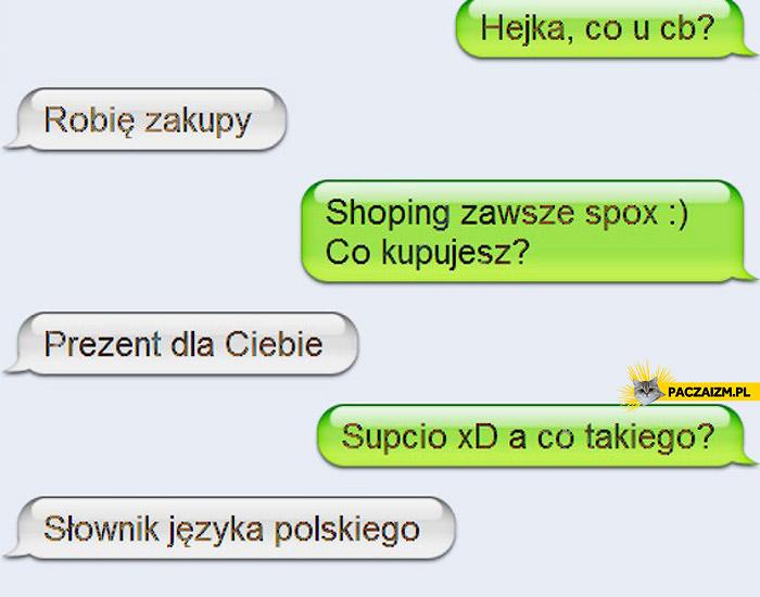 Kupuję Ci słownik języka polskiego
