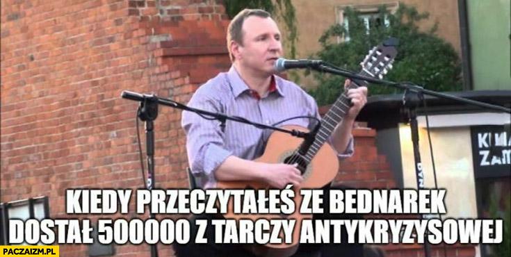 Kurski kiedy przeczytałeś, że Bednarek dostał pół miliona z tarczy antykryzysowej gra na gitarze