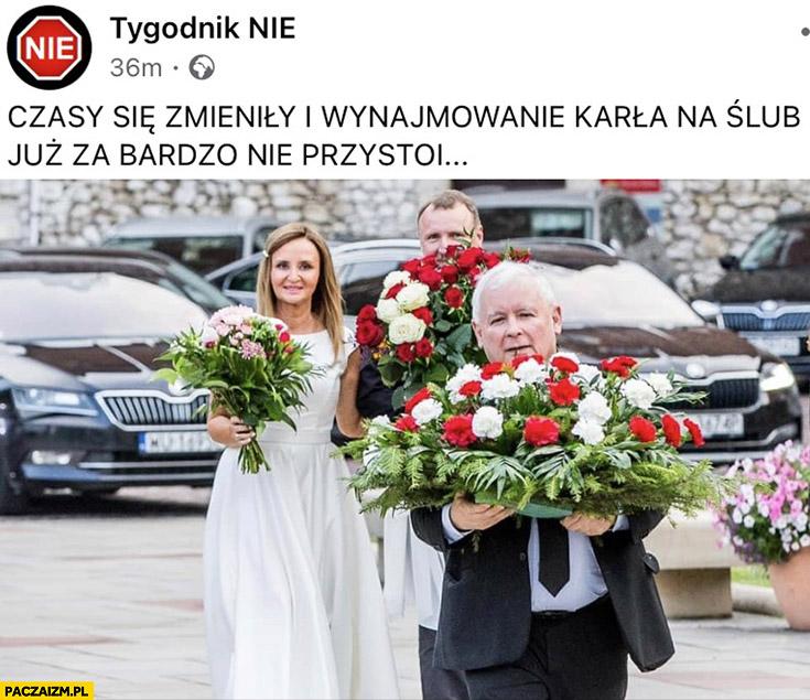 Kurski ślub Kaczyński czasy się zmieniły i wynajmowanie karła na ślub już za bardzo nie przystoi