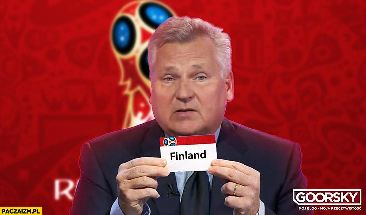 Kwaśniewski losuje grupę kraje na Mistrzostwa Świata w piłce nożnej Finlandia Goorsky