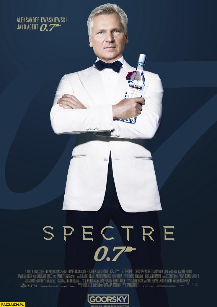 Kwaśniewski Spectre 0,7 James Bond plakat Goorsky