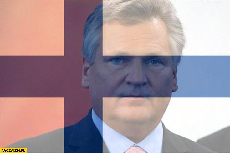 Kwaśniewski zdjęcie profilowe na facebooku flaga Finlandii