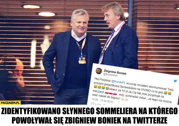 Kwaśniewski zidentyfikowano słynnego sommeliera na którego powoływał się Zbigniew Boniek na twitterze