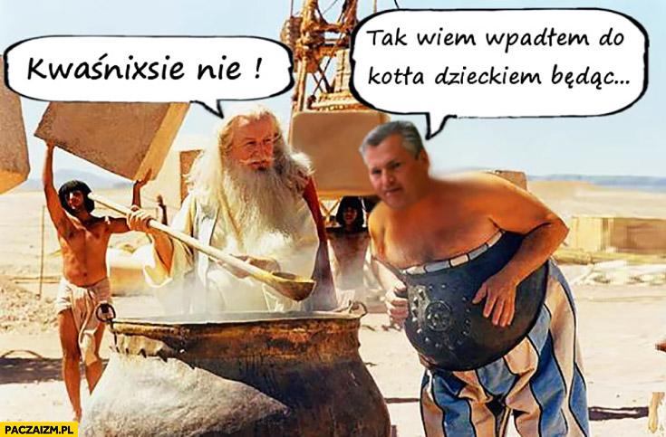 Kwaśnixie nie! Tak wiem wpadłem do kotła dzieckiem będąc Kwaśniewski Asterix i Obelix