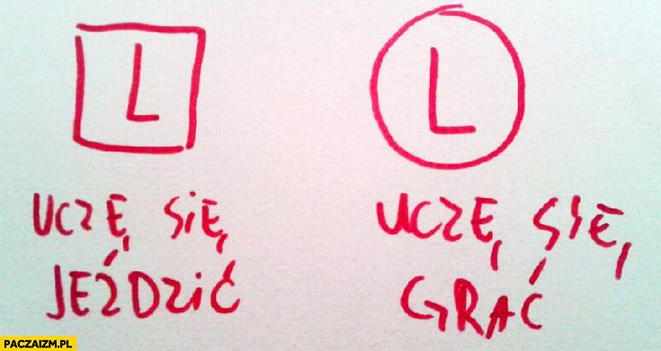 L uczę się jeździć logo Legia Warszawa uczę się grać