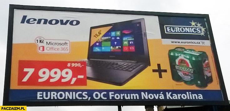 Laptop Lenovo plus piwo gratis Czechy