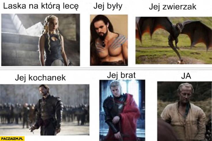 Laska na którą lecę jej zwierzak brat były Game of Thrones Khaleesi