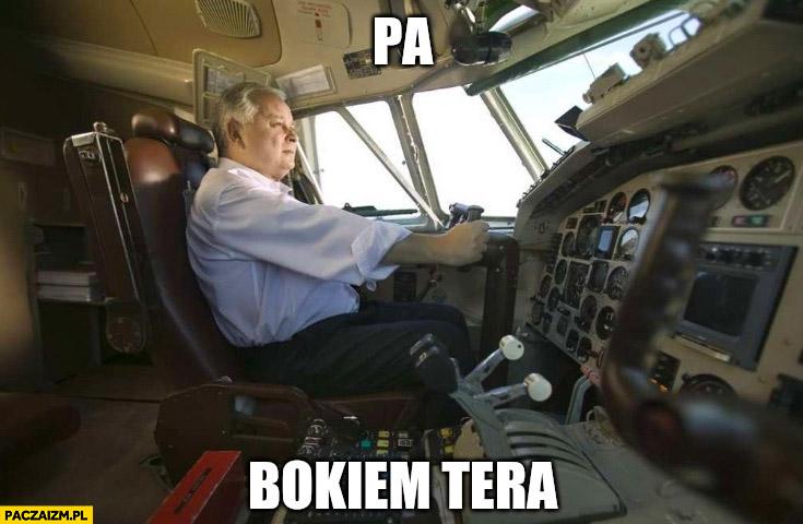 Lech Kaczyński pa bokiem tera Smoleńsk Tupolew