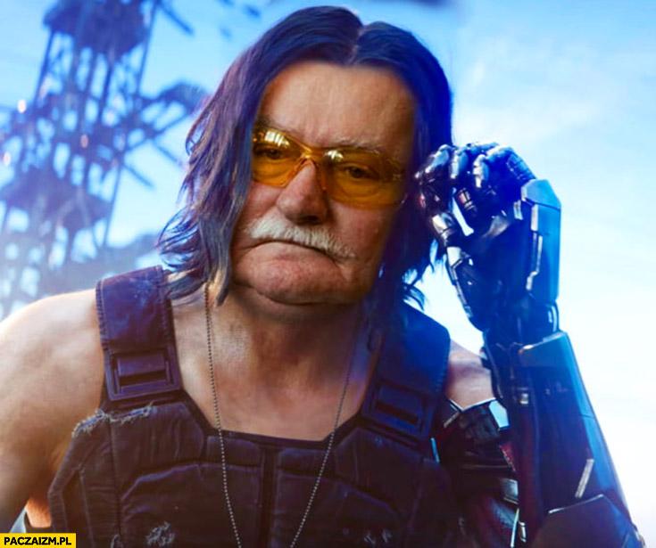Lech Wałęsa Bolek Cyberpunk 2077 Keanu Reeves przeróbka