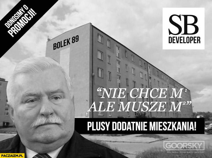 Lech Wałęsa Bolek mieszkania nie chce ale muszem, plusy dodatnie mieszkania Goorsky