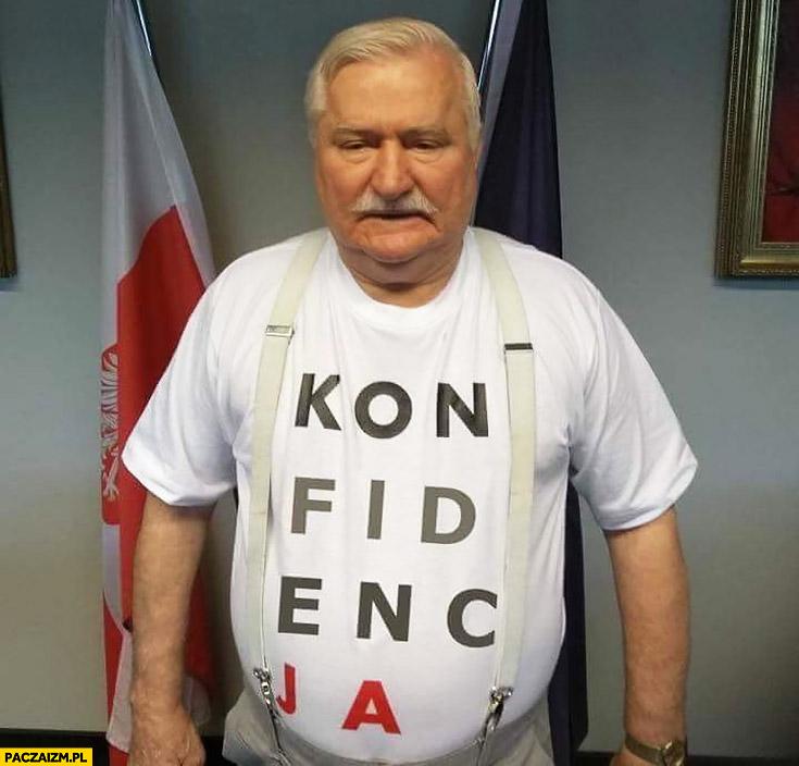 Lech Wałęsa koszulka konfidencja konstytucja przeróbka