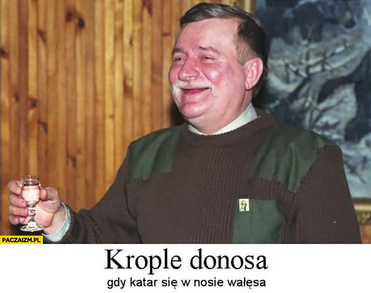 Lech Wałęsa krople donosa gdy katar się w nosie wałęsa Bolek