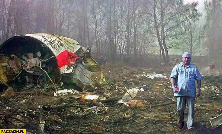 Lech Wałęsa miejsce katastrofy smoleńskiej przeróbka