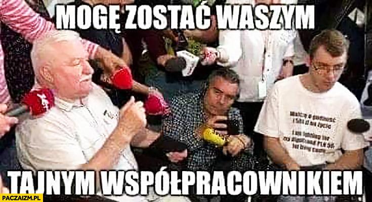 Lech Wałęsa mogę zostać waszym tajnym współpracownikiem niepełnosprawni w sejmie