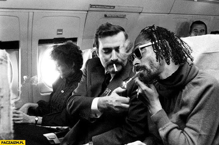 Lech Wałęsa ze Snoop Doggiem