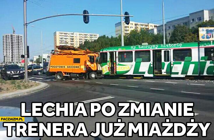 Lechia po zmianie trenera już miażdży wypadek tramwaj
