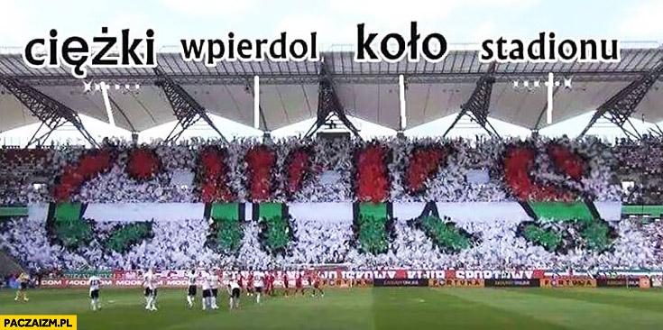 Legia CWKS ciężki wpierdziel koło stadionu rozwiniecie skrótu