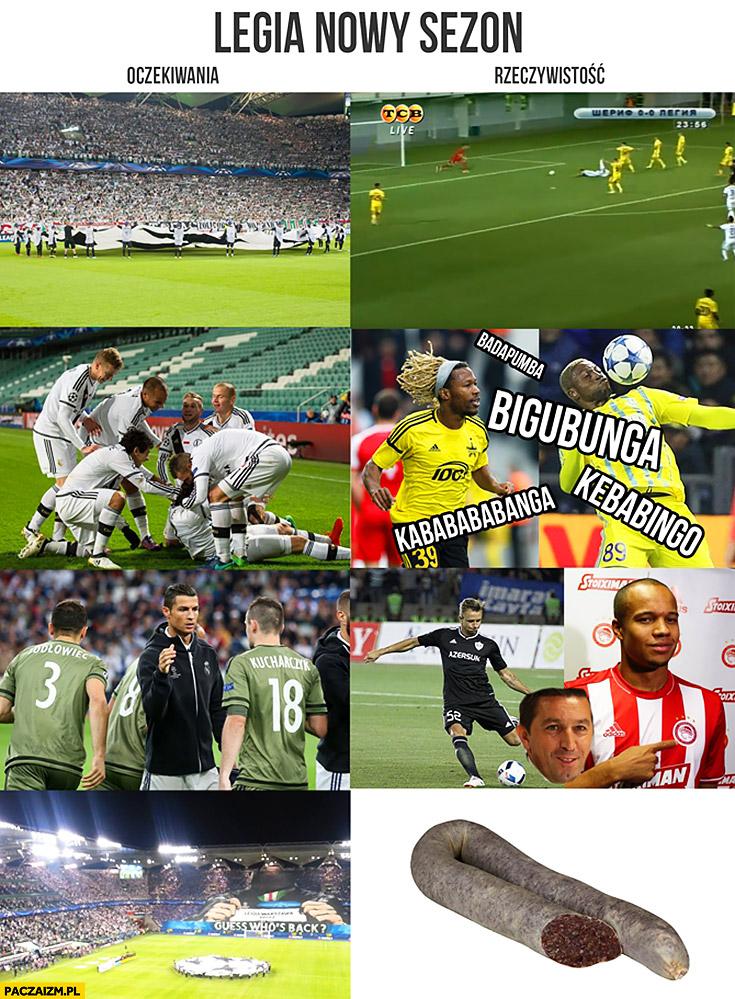 Legia nowy sezon oczekiwania vs rzeczywistość