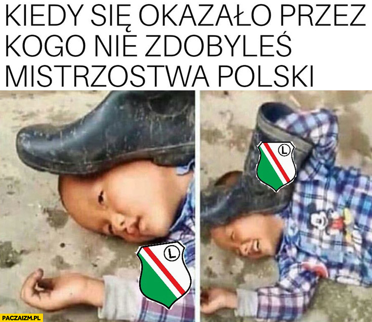 Legia pod butem kiedy się okazało przez kogo nie zdobyłeś mistrzostwa Polski