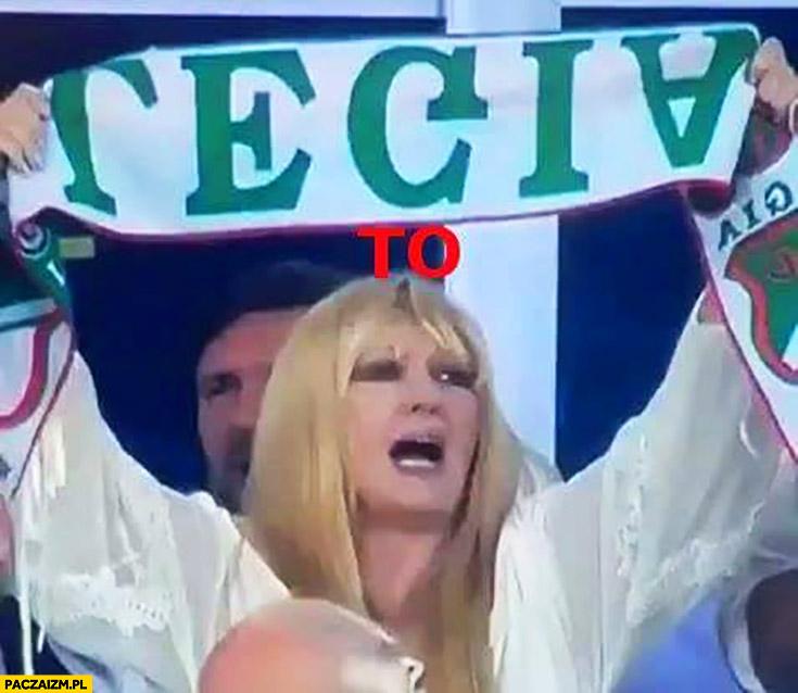 Legia to kurna Maryla Rodowicz z szalikiem