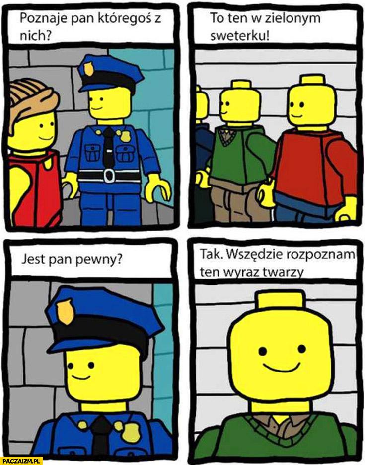 Lego ludziki poznaje pan któregoś z nich? To ten w zielonym sweterku wszędzie rozpoznam ten wyraz twarzy