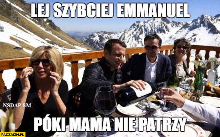 Lej szybciej Emmanuel póki mama nie patrzy Macron z żoną