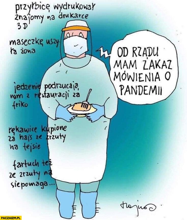Lekarz od rządu mam zakaz mówienia o pandemii wszystko inne dali ludzie