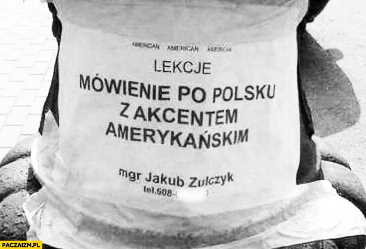 Lekcje mówienie po polsku z akcentem amerykańskim